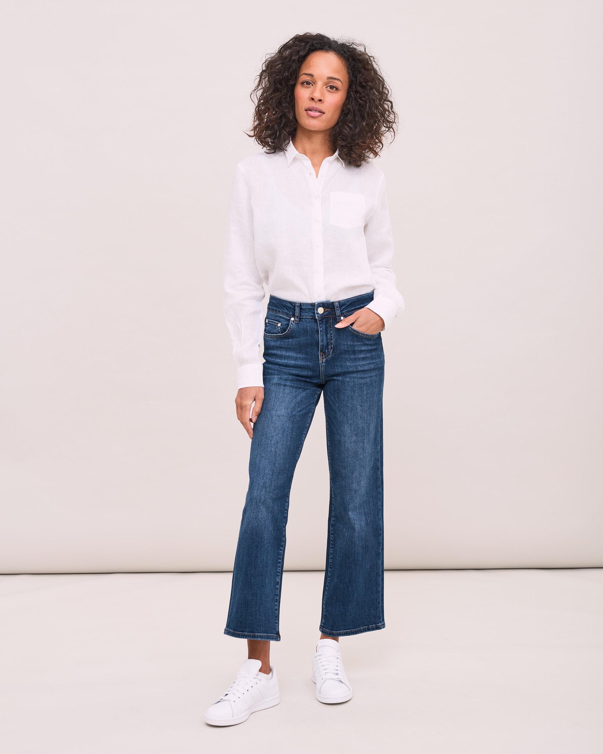 Bootcut jeans Cornelia - Mellanblå
