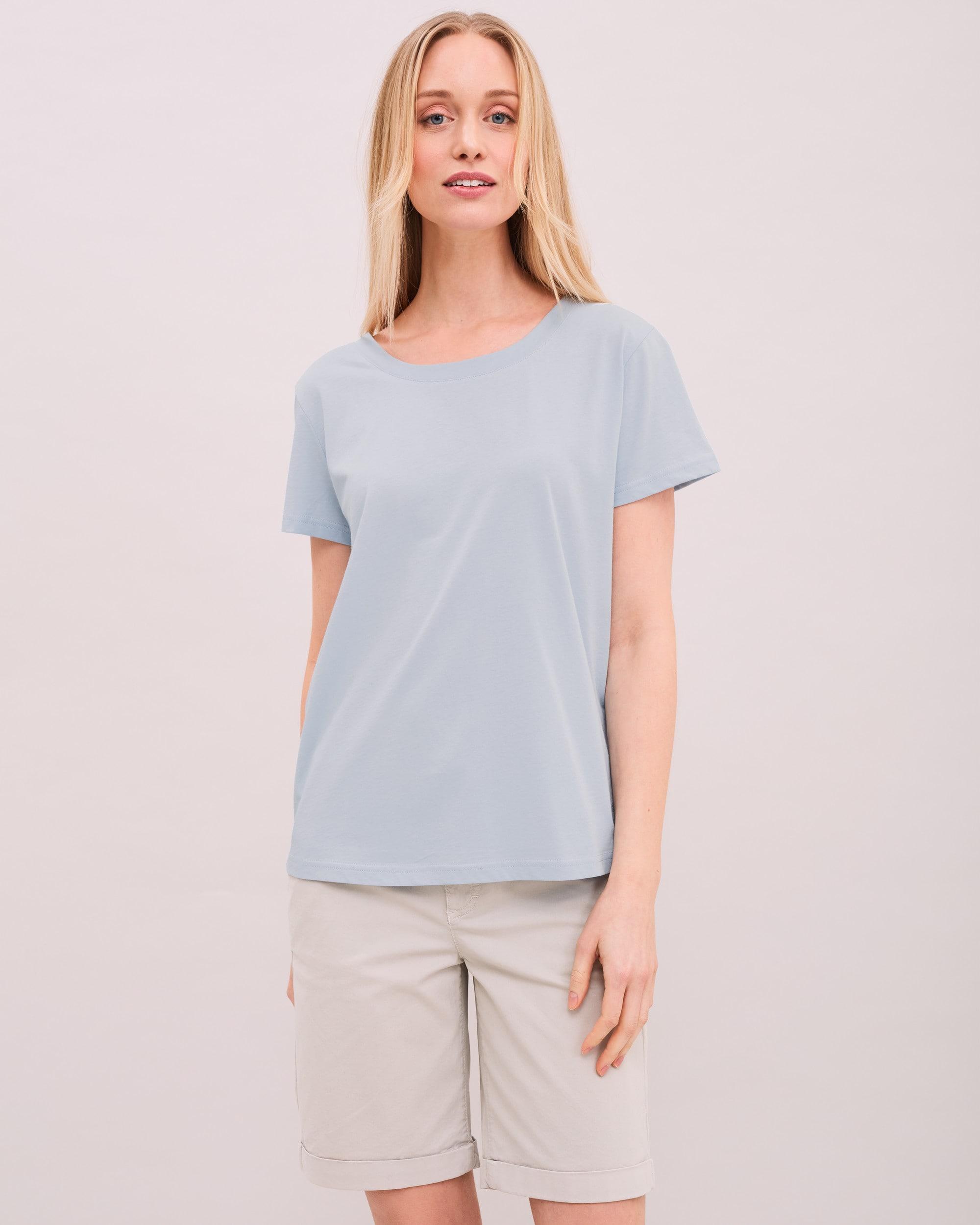 T-shirt Siri i bomull - Ljusblå