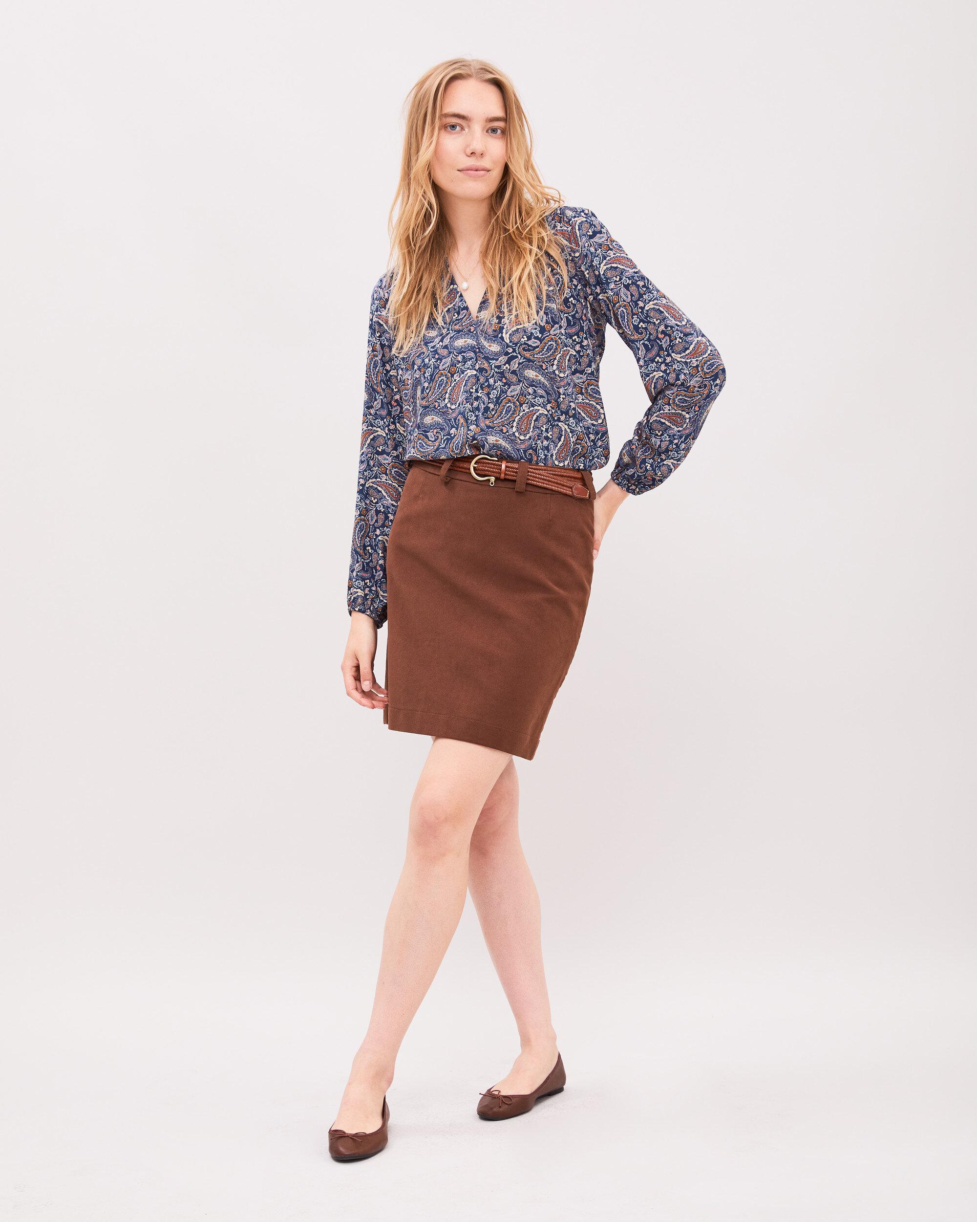 Penny Moleskin Skirt