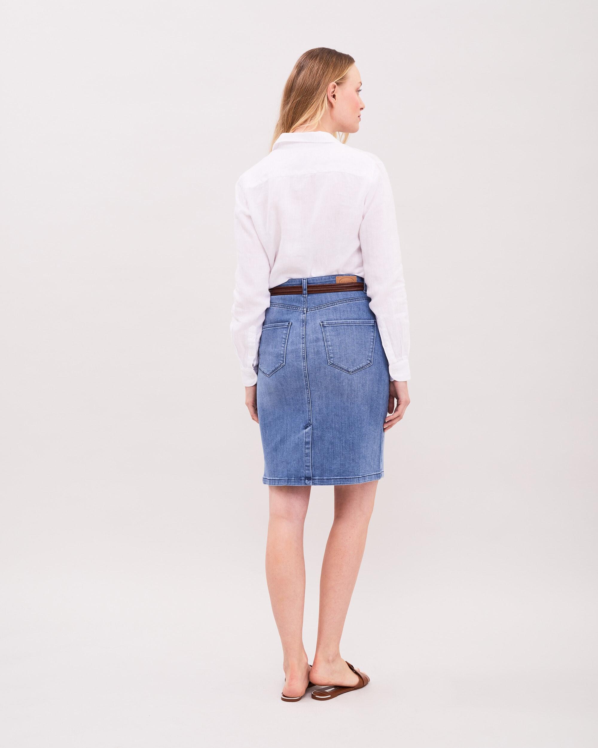 Light Blue Denim Skirt